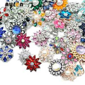 Wholesale Top Mix Rhinestone Snap Charms 18mm Snap Button 20mm Snap Jewelry 8017