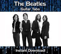 THE BEATLES ROCK POP GUITAR TABS TABLATURE SONG BOOK SOFTWARE DOWNLOAD