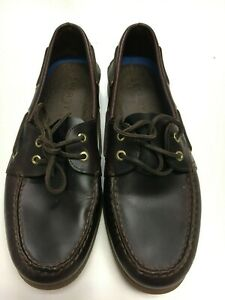 Sperry Top Sider 2 Eye Cordovan Burgundy Leather Boat Shoes 0195214 Men 12M