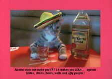 "Cat Drinking Jose Cuervo Tequila - Funny 5 1/2"" x 4"" Refrigerator Fridge Magnet"