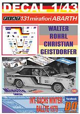 DECAL 1/43 FIAT 131 ABARTH W.ROHRL SACHS WINTER R. 1979 WINNER (12)