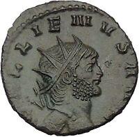 GALLIENUS son of Valerian I Authentic  Ancient  Roman Coin Antelope  i46348