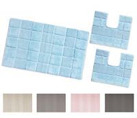 TAPPETO BAGNO parure set 3 pezzi 100% cotone assorbente colori pastello mod.AFEF