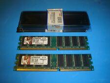 2X 512MB DDR1 KINGSTON DDR400 PC1-3200 1GB DDR 400 KVR400X64C3A/512MB 2X 512MB