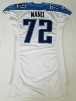 #72 Seth Wand of Tennessee Titans NFL Locker Room Game Issued Player Worn Jersey