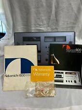 New ListingVintage Nakamichi 600 Cassette Silver face Tape Deck