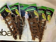 """8IN1 Ecotrition Birds vintage twig wood wooden ladder 9"""" bird Cage toy LOT of 6"""