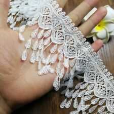 1yd Tassels lace Edge Trim Ribbon Wedding Applique DIY Sewing Craft HB404
