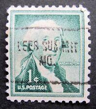 Sc # 1031 ~ 1 cent Liberty Issue, Washington, Precancel, LEES SUMMIT MO.