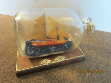 NAUTICAL  2 MASTED SAILBOAT IN A GLASS BOTTLE