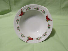 New Set of 6 Gibson Christmas Winter Birds Cardinal 8  Holiday Soup/Cereal Bowls & Gibson Holiday Dinnerware Bowls | eBay