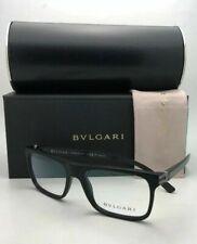 New BVLGARI Eyeglasses 3028 5313 53-17 140 Matte Black with Carbon Fiber Temples