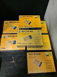 7X Piece Vintage Netgear Wireless Adapter CARD BUS LOT Sealed Wholesale Lot