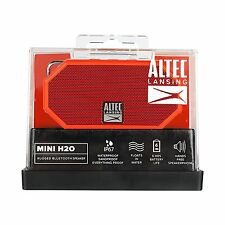 Altec Lansing Mini H2O Waterproof and Shockproof Bluetooth Speaker IMW57-Red