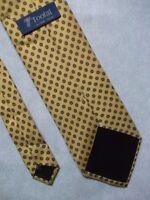 Vintage TOOTAL Tie Mens Necktie Retro 1980s Fashion GOLDEN CREAM PURE SILK