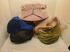 Vintage Womens Hats lot of 5