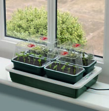 More details for garland fab 4 vented 10w electric heated seed tray propagator unit