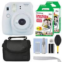 Fujifilm Instax Mini 9 Instant Film Camera Smokey White + 40 Film Accessory Kit