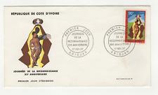 Côte d'Ivoire 1 timbre sur lettre FDC 1967 tampon Abidjan /FDCa118