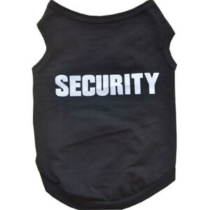 T-shirt Dog S Black Summer Clothes Security Puppy Vest Polyester Spring SQ5
