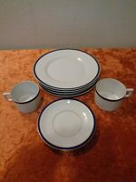 8 PC Convolute from Coffee Service Porcelain - Art Deco around 1920 - Vintage