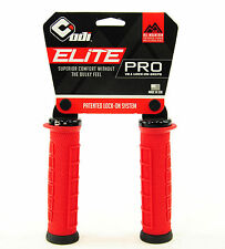 ODI Elite Pro Lock-On Mountain Bike Grips Red/Black