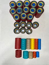 Vintage Lot of Curlers - Hard Plastic Rollers -170 Asst sz and color  USA