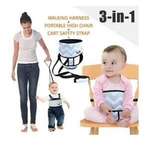 3 In 1 Baby Walking Harness Highchair Belt And Trolley Strap