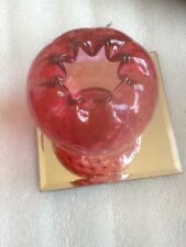 Fenton Country Cranberry Coin Dot Optic Rose Bowl/Vase