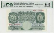 1929-34 BANK OF ENGLAND 1 POUND **Sig. Catterns** ~X-RARE~ (( PMG 66 EPQ ))