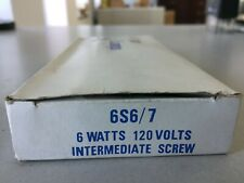 PHILIPS 6S6/7 6 WATT INTERMIDIATE SCREW BOX OF 9