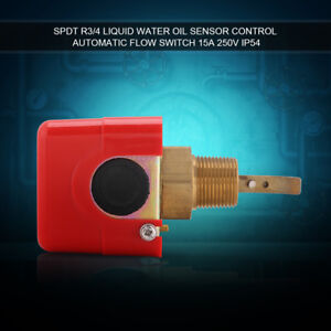 Micro Brass Water Flow Switch Paddle Control R3/4 Thread Connection + 3 Paddles