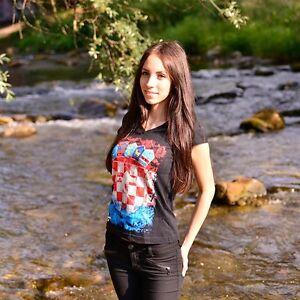 AUSVERKAUF Zoonamo KROATIEN Damen Classic Shirt Croatia Girls Länder T-Shirt