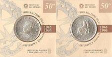 ITALIA 10000 liras plata 1996 - 50 aniv. Proclamación de la Republica Italiana