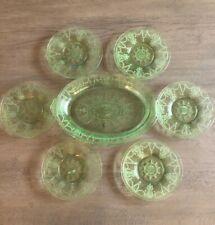 Vintage Hocking Glass Cameo Dessert Set