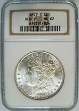 1897 S Morgan Silver Dollar NGC MS 62 Redfield Hoard Pedigree Collection Coin