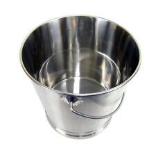 Abfalleimer Kücheneimer Futtereimer Edelstahl mit Skalierung und Henkel 14 Liter