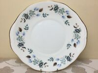 Colclough Linden Eared Cake Plate Mint Unused Condition 1st