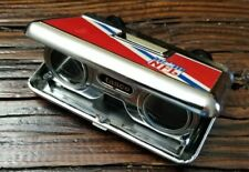 NFL Folding Binoculars Tasco Japan red blue & white football Vintage
