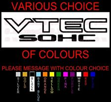 VTEC SOHC JDM STREET DRIFT WINDOW DECAL STICKER