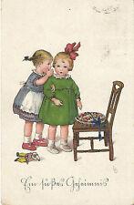 Kinder mit  süßen Geheimnis, LD, Lia Döring Künstlerkarte, Meissner & Buch