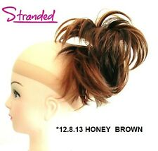 HAIR PIECE STYLED CLAMP EXTENSION CLIP IN CLAW INSTANT UPDO HONEY BROWN *12.8.13