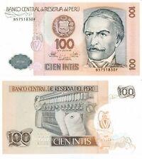 Peru Banknote 100 Intis, Unciruclated, 1987