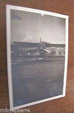 FOTOGRAFIA d'epoca vintage BIPLANO AEREO aereoplano ROMEO AD ELICA ad ala doppia