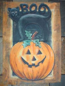 """New Halloween Spooky garden flags banner  12.5 x 18"""" -  6 designs Witch Cat Bat"""