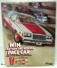 1981 Buick Regal Indy 500 Pace Car Coca-Cola Give-Away Promotional Poster Coke