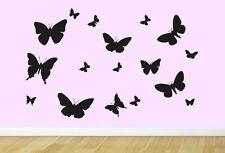 BUTTERFLY 01. Children's bedroom nursery vinyl sticker wall transfer art decor