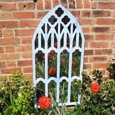Garden Wall Mirror Trellis Decor 97cm Tall Open Window Illusion Outdoor Mirror
