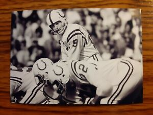 Johnny Unitas Colts Football 4x6 Game Photo Picture Card