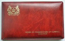 1976 SINGAPORE - OFFICIAL MINT SET (6) - YEAR of DRAGON - ORIG. RED WALLET